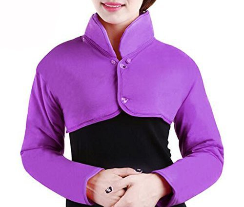 Shoulder Warmer Shoulder Heat Wrap with Removable Collar, Neck Pain Relief (Purp