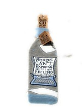 New Primitives by Kathy LOL Bottle socks wine bottle cover/ words can't ... - $9.60
