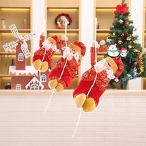 Climbing The Rope Santa Claus Dolls Christmas Ornaments Hanging Decorati... - €13,58 EUR