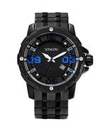 SONGDU Men Watches Fashion Classic Quartz Watch Silver Analog Dial with ... - $29.89
