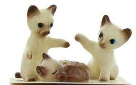 Hagen Renaker Miniature Cat Siamese Kittens Sleeping Sitting and Paw Up Set of 3 image 10