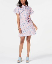 Tommy Hilfiger Cotton Belted Printed Shirtdress Size 6 $85.50 -NWT - $29.99