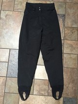Woman's OverMeyer Black Ski Pants Size 8 X 25 Euc - $21.77