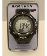 Armitron Sport Men 40/8413BLK Digital Chronograph Resin Strap Watch Blac... - $20.95