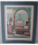 H. Downing Hunter Signed Litho Limited Edition Girl In Bedroom Looking i... - $15.83