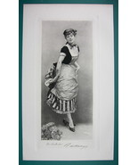 YOUNG MAIDEN Queen of Masked Opera Balls - Antique Photogravure Print - $16.84