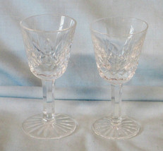 "Waterford Lismore 3 1/2"" Liqueur or Cordial Stem Goblet, Pair - $29.59"