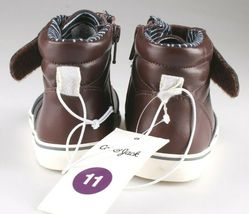 Cat & Jack Toddler Boys' Brown Ed Sneakers Mid Top Shoes 7 US NWT image 4