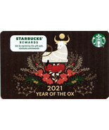 Starbucks 2021 Year of The Ox Collectible Gift Card New No Value - $12.99