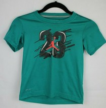 Jordan Dri fit youth kids top tshirt green short sleeve Dri-fit size 7 - $9.97