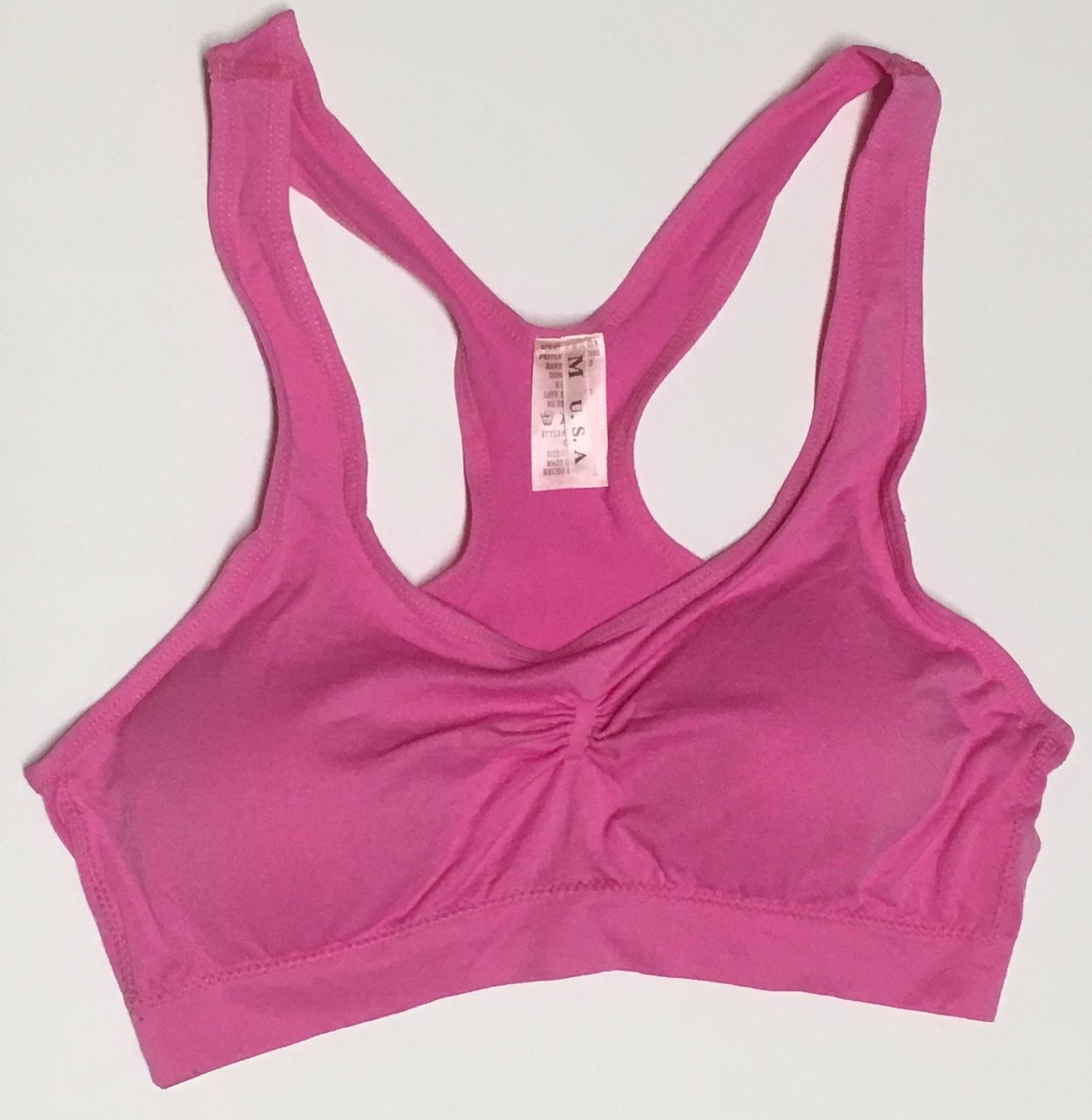 Women's Sport Support Bra Light Pink SZ Medium Light Padding image 2