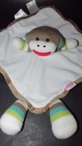 Baby Starters Sock Monkey Security Blanket Ratt... - $11.99