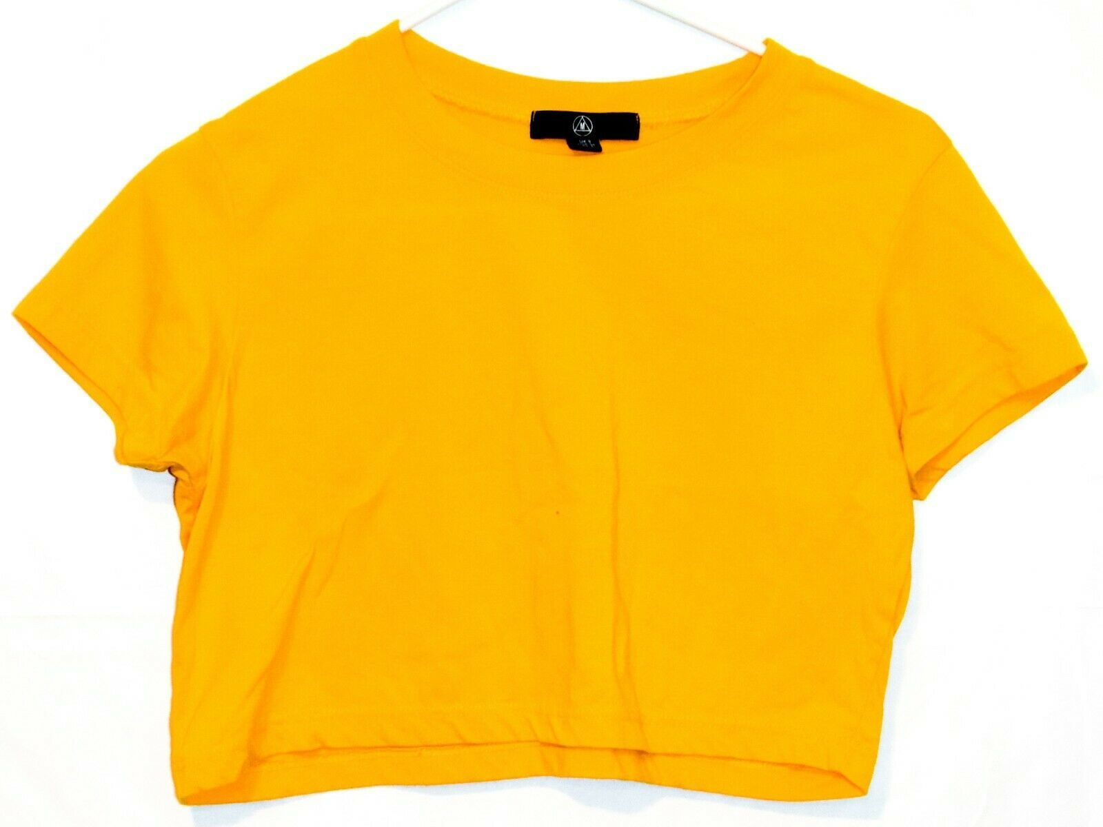 Missguided Women's Yellow Crop Top Short Sleeve T-Shirt Size 4