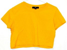 Missguided Women's Yellow Crop Top Short Sleeve T-Shirt Size 4 image 1