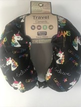 Rainbow Unicorn Memory Foam Travel Pillow - $18.66