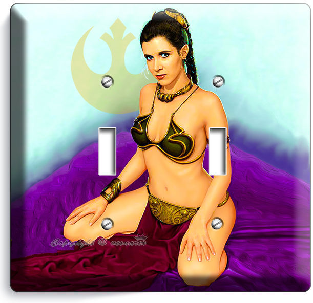 STAR WARS PRINCESS LEIA IN SLAVE DRESS LIGHT SWITCH OUTLET WALL PLATE ROOM DECOR