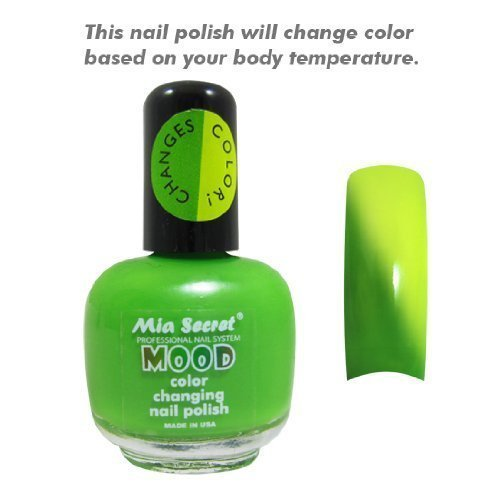 Primary image for Mia SecretMood Nail Lacquer Color Changing Nail Polish Green to Yellow
