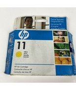 Genuine HP #11 Yellow Ink Cartridge C4836AN Factory Sealed EXP: 3/2009  ... - $12.19