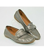 """Coach Size 8.5 B """"Flash"""" Silver Gray Slip On Comfort Career Flat Shoes - $24.22"""