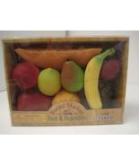 MIB NEW in Box Fruit Battat Market Fake Play Food Pretend Kitchen Fun To... - $11.00
