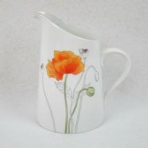 """Block Spal Poppy Slant Top Creamer 4.75"""" Watercolors Mary Lou Goertzen R... - $39.99"""