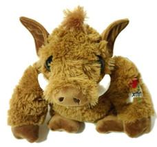 "Dan Dee Collectors Choice Warthog Wild Boar Plush 9"" Brown Big Eyes XOXO Love - $9.49"