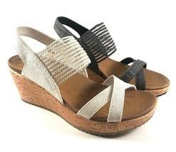 Skechers 31723 Luxe Foam Slingback Wedge Slip On Sandals Choose Sz/Color - £28.06 GBP