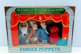 The Great Psychologists Finger Puppets Set Carl Jung Sigmund Anna Freud ... - $15.00