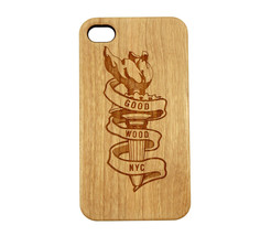 New Good Wood new York NYC Statue of Liberty Torch Iphone 4/4S Snap Case