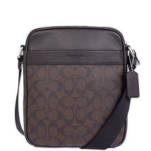 Coach Charles Flight In Signature F 54788 71764 MAHOGANY/BROWN Messenger... - $131.03