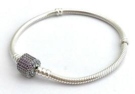 Pandora Signature Fermoire, Déguisement Violet Cz Bracelet 590723CFP-18,... - $70.81