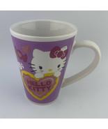 Sanrio Hello Kitty Yellow Heart  Purple coffee mug  Tea Cup - $7.97