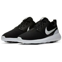 Nike Women's Roshe G Soft Spike Golf Shoes Black Mesh White Size 7.5 M New - $48.91