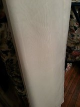 White sheer curtain, window treatment. 50 in wide 82 in  - $14.03