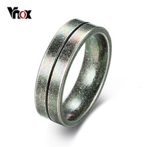 Vnox Stylish Surface Finish Stainless Steel Men Ring Antique Vintage Mal... - $17.78