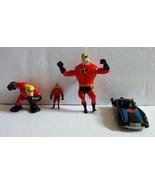 Lot of 4 Disney Pixar Incredibles McDonald's Action Figures Cake Toppers - $14.89