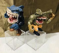 Mattel Vintage 1990s Street Sharks Pool Shark Ripster + Jet Pack Jab Figures - $74.25