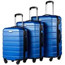 Spinner Luggage 3 Piece Set ABS Wheeled Suitcase Hardshell TSA Lightweig... - $196.88