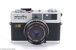 Minolta HI-MATIC F SILVER 35mm Film Camera ROKKOR 38mm f/2.7 Lens Japan ... - $22.98