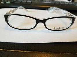 New Bebe Bangles BB5022 002 Jet 51.15.135 Eyeglass Frames..BRAND NEW AUT... - $38.61