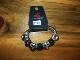 Paparazzi Bracelet(New)Silver & Black Beads 520 - $7.61