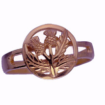 SALE 18K Rose gold plated over real Sterling Silver  Celtic Thistle sham... - $22.64