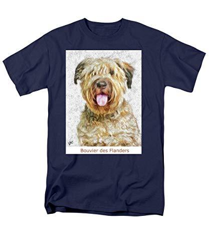 Primary image for Pieter - Bouvier Des Flanders - Men's T-Shirt (Regular Fit) - Navy/Large