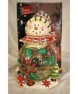 Jay Imports 2004 Snowman Glass Body Cookie Jar - $20.78