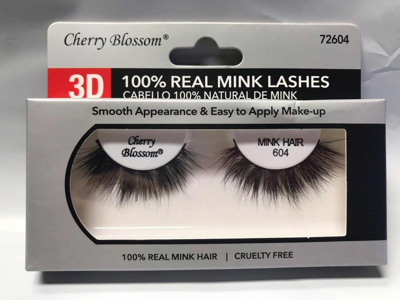 Primary image for CHERRY BLOSSOM 3D 100% REAL MINK LASHES #72604 CRUELTY FREE VERY LIGHT REUSABLE