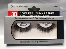 CHERRY BLOSSOM 3D 100% REAL MINK LASHES #72604 CRUELTY FREE VERY LIGHT R... - $4.54