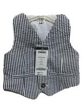 Gymboree Infant Boys White Gray Stripe Vest Size 6-12 Months New - $8.81