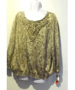 Charter Club Lovely Animal Print Blouse Size 2X - $18.02
