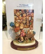 Hummel Love's Bounty HUM 751 Figurine w/Original Box, COA, Wood Stand Ex... - $221.39