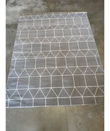 NEW - Sienna Grey Geometric Rug - 5' x 7' - $81.60